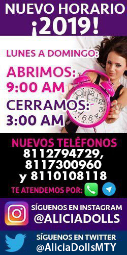 Horarios de Escorts en Monterrey Alicia Dolls