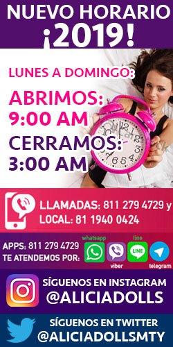 Nuevo horario Aliciadollshouse Escorts Monterrey