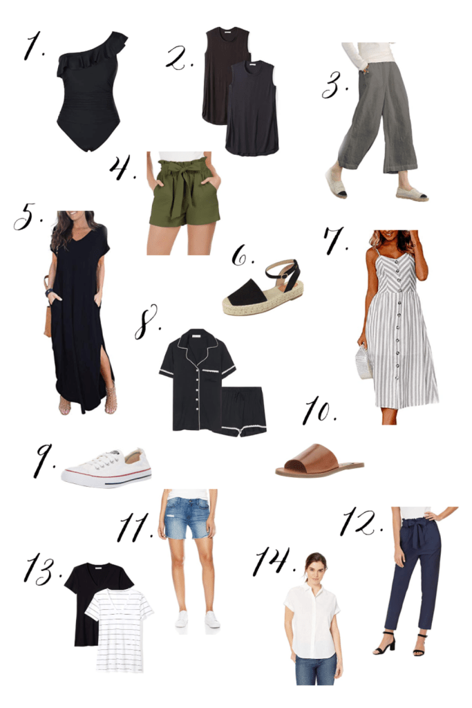 As a mom, shopping for summer clothes can be tricky. BUT here's a perfect summer capsule wardrobe moms will love to wear all summer long!