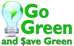 Go-Green-Save-Money how to save money going green