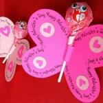kids-Valentines-Day-craft-butterfly-with-lollipop Valentine ideas for children