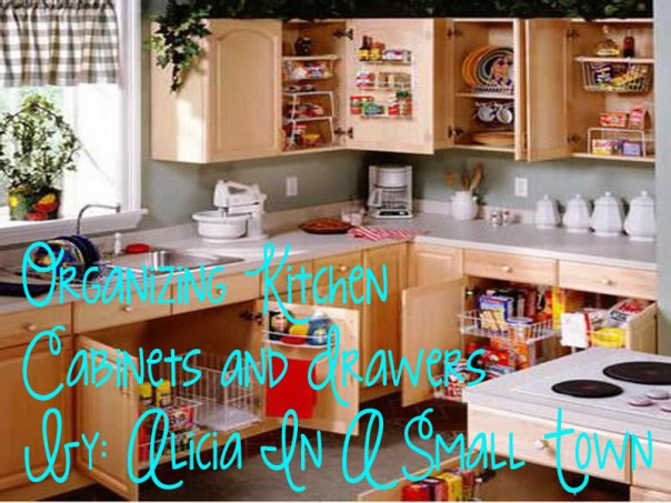 organizing kitchen cabinets and drawers