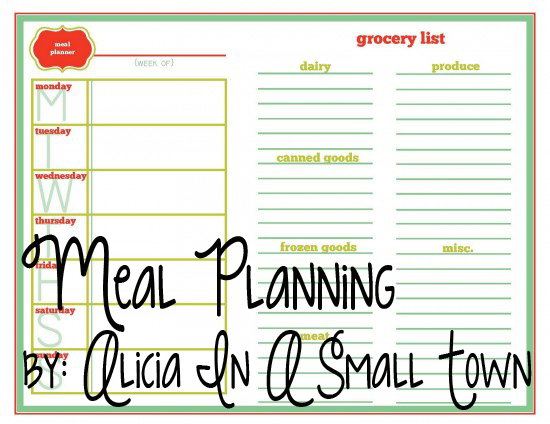 meal planning copy