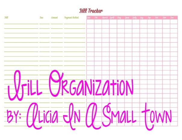 Bill Organization by Alicia