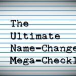 THE BEST POST-WEDDING NAME CHANGE CHECKLIST