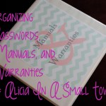 Organizing Passwords, Manuals, and Warranties