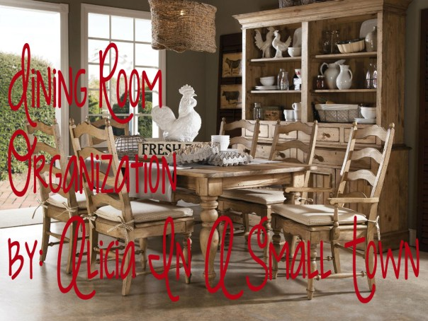 farmhouse dining room organization