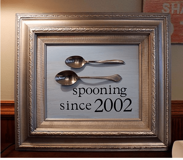 spooning since frame diy tutorial cute anniversary wedding craft for couples
