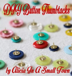 button thumbtacks DIY