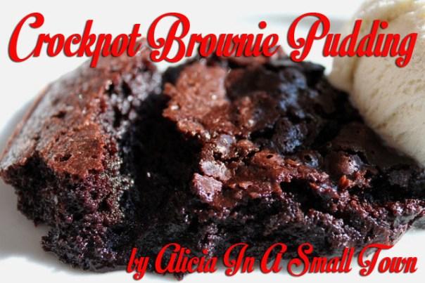 Crockpot Brownie Pudding
