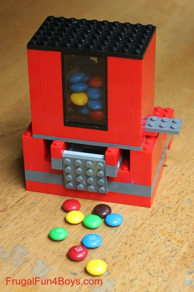 Lego DIY candy dispenser