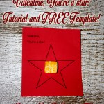 Valentine You're A Star Tutorial and Template