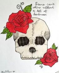 Skull - Roses