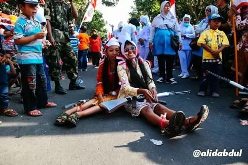 Aksi Teatrikal Pawai Budaya Jombang Alid (3)