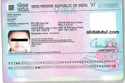 Alid Visa India Stiker