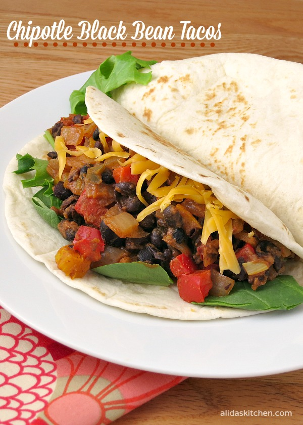 Chipotle Black Bean Tacos | alidaskitchen.com