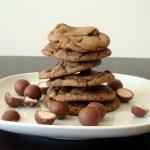 Triple Chocolate Malted Cookies