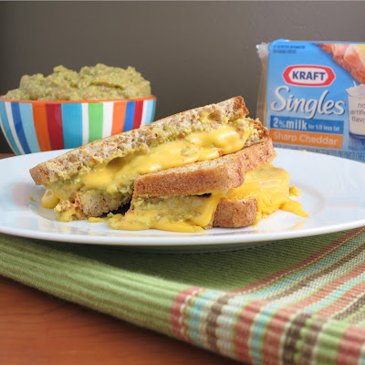 kraft singles guacamole grilled cheese sandwich