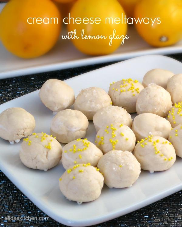 cream cheese meltaways with lemon glaze