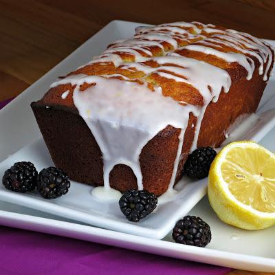 easy lemon buttermilk breakfast pound cake with lemon glaze