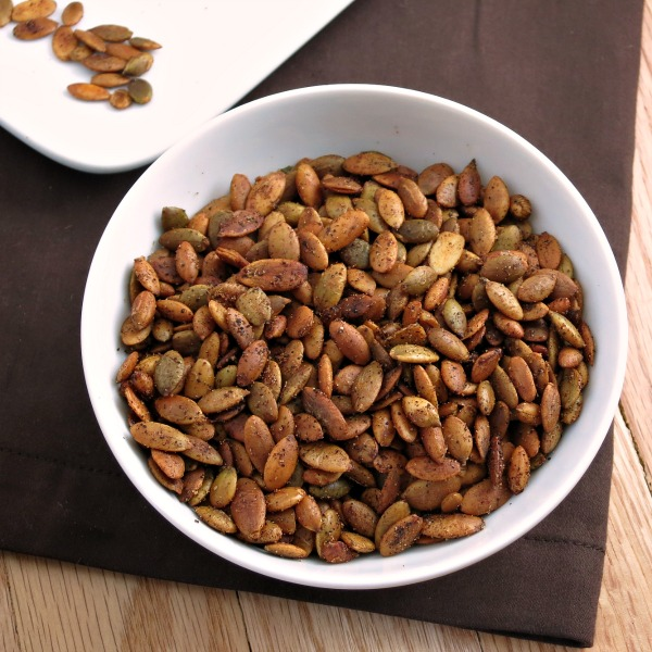 Sweet and Spicy Roasted Pepitas