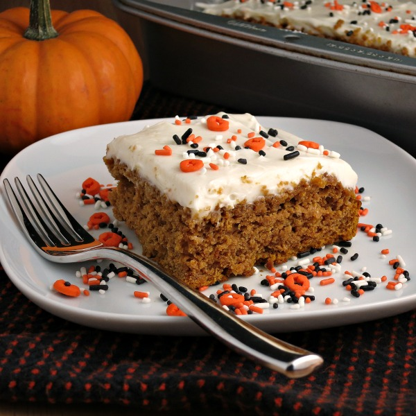 Lighter Frosted Pumpkin Cake