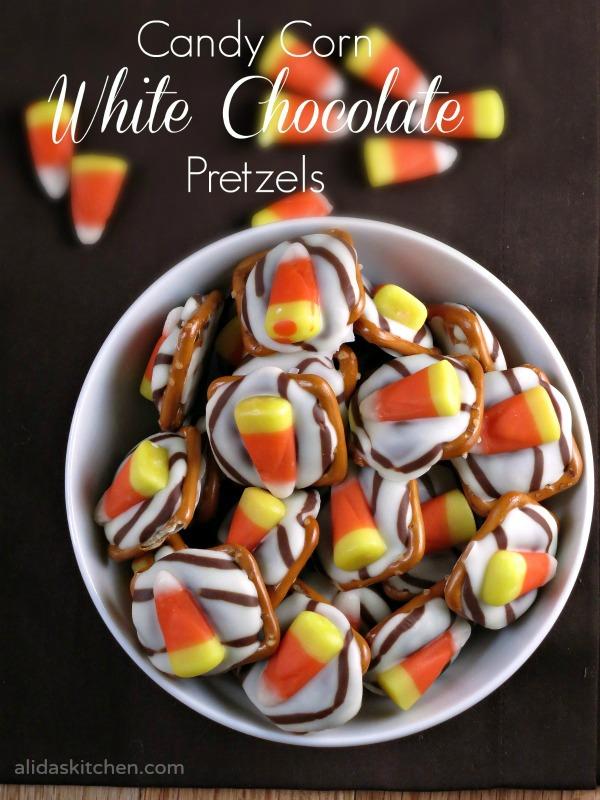 Candy Corn White Chocolate Pretzels