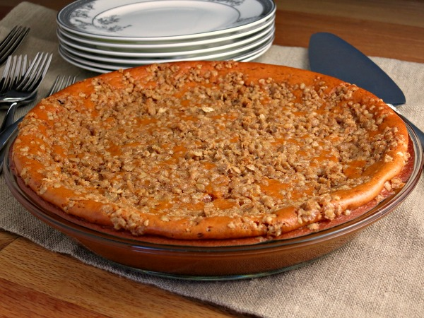 Sweet Potato Pie made without crust.