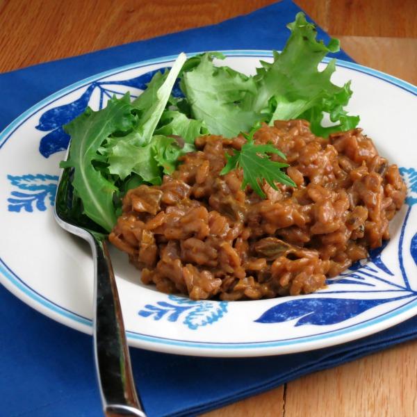 Burgundy Porcini Risotto | alidaskitchen.com #recipes #risotto