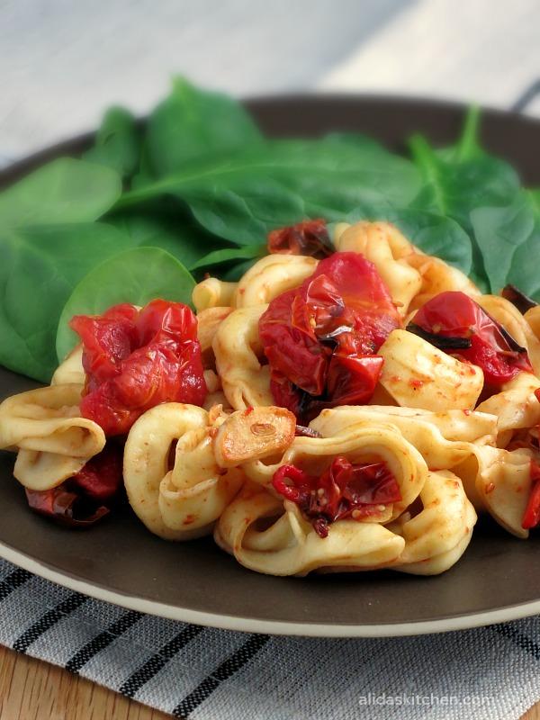 Balsamic Tomato Tortellini | alidaskitchen.com #recipes #pasta #PompeianVarietals