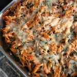 Three Cheese Spinach Pasta Bake