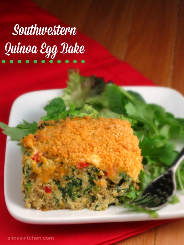 Southwestern Quinoa Egg Bake | alidaskitchen.com #recipes #brunch #FreshTake #cbias #shop
