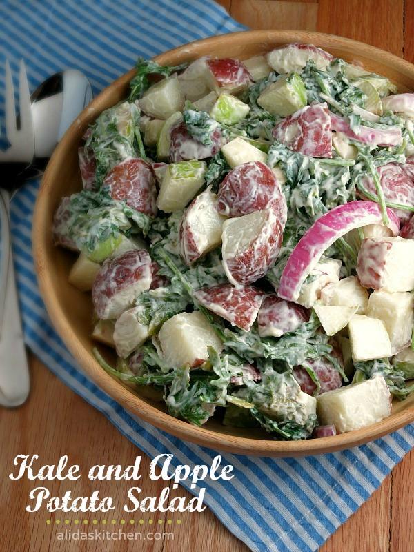 Kale and Apple Potato Salad | alidaskitchen.com