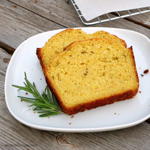 Rosemary Cornbread from Alida's Kitchen #recipes #SundaySupper #ChooseDreams