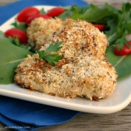 Baked Garlic Mustard Panko Chicken - Alida's Kitchen #recipes #WeekdaySupper