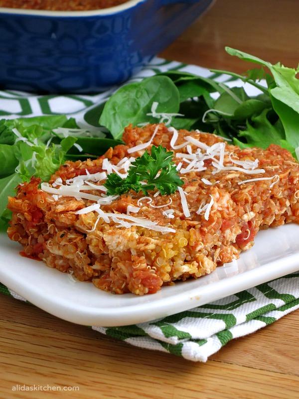 Chicken Parmesan Quinoa Bake | alidaskitchen.com