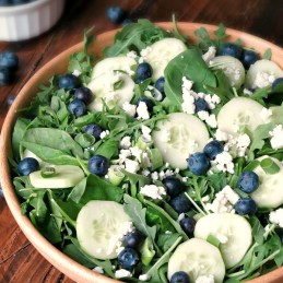 Balsamic Blueberry Salad | alidaskitchen.com #SundaySupper
