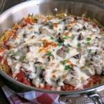 Pasta Pizza Pie #SundaySupper