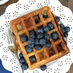Blueberry Buttermilk Waffles #SundaySupper