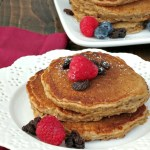 Honey Oatmeal Raisin Pancakes