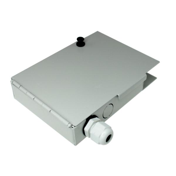 4 Port FTTH Fiber Termination Box, Wall Mount, Metal