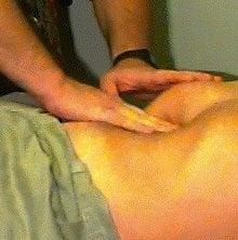 Palpate abdomen