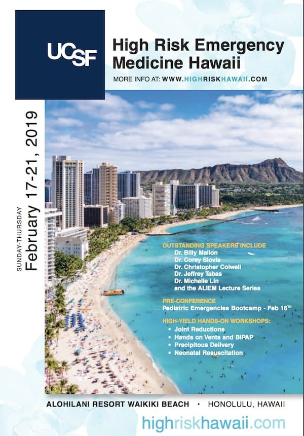 High Risk Hawaii UCSF Brochure cover 2019 | ALiEM