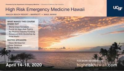 high risk emergency medicine UCSf conference 2020