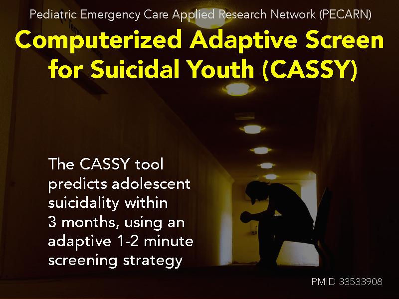 CASSY PECARN suicide screening tool