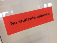No students allowed