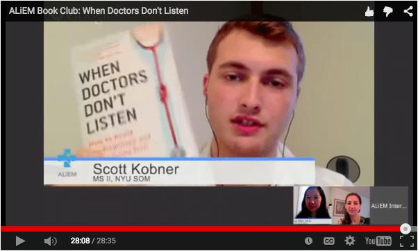 When Doctor's Don't Listen ALiEM Book Club discussion