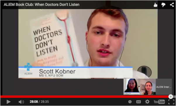 When Doctor's Don't Listen ALiEM Book Club discussion