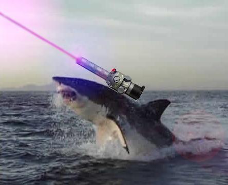 """Please Send MOAR Fish""  -LAZER SHARK"