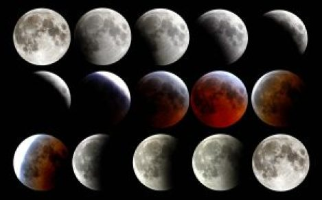 Lunar phases with bloodmoon